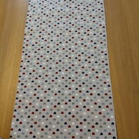 Love Hearts & Stars Reversible Table Runner with Free UK Delivery