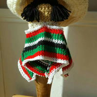 a hand knitted golf club cover for driver fun mexican bandit