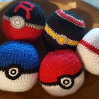 knitted pokemon stress ball soft play ball