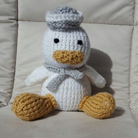 handmade knitted little sailor duck