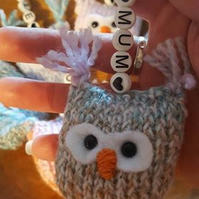 little owl keyring can be personalized