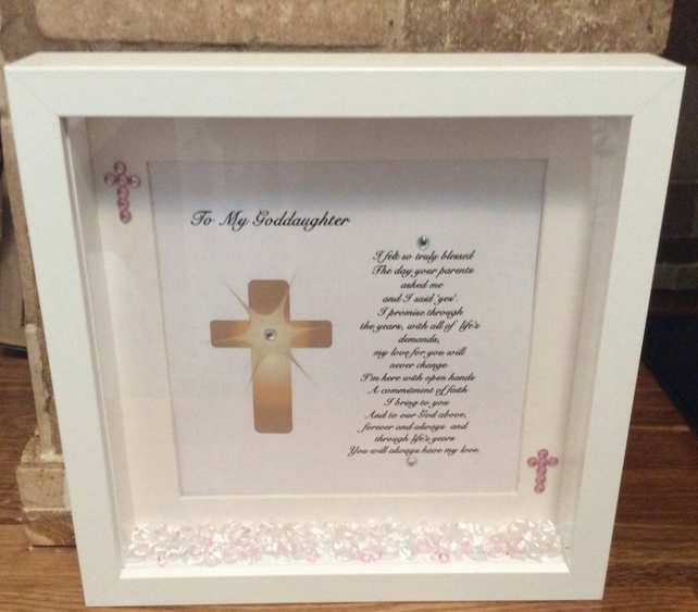 58636a5e1374 Personalised Godson Goddaughter Box Frame Made ... - Folksy