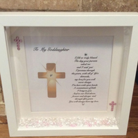 Personalised Godson Goddaughter Box Frame Made To Order