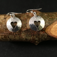 Sterling Silver Heart Cut Earrings