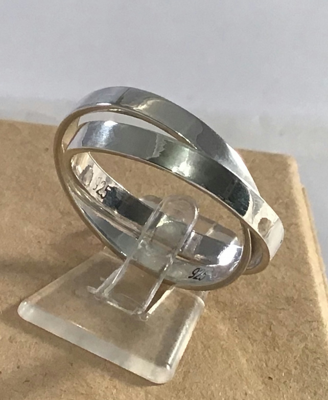 Sterling Silver double ring