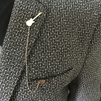 Unique Handmade Sterling Silver Guitar Lapel or Tie pin