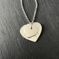 Sterling Silver Dual Heart Pendant