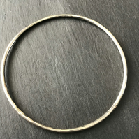 Handmade Hammered Sterling Silver Bangle
