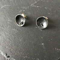 Sterling Silver handmade stud earrings