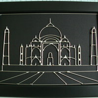 Spectacular Wire Art - hand-crafted in the finest detail (TAJ MAHAL)