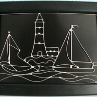 Spectacular Wire Art - hand-crafted in the finest detail (Light-house)