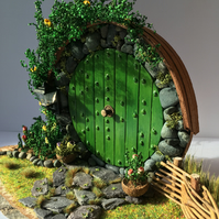 Made to order - Handmade Light up Hobbit Fairy Door
