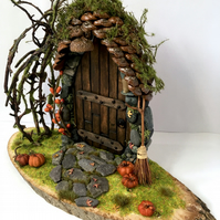 Made to order - Autumnal Light Up Fairy Door