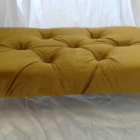 Velvet footstool -large -you choose colour and leg syle