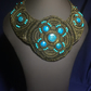 Bead embroidery necklace - Chrysocolla