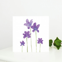 Anemone Floral Greetings Card