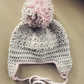 Crochet baby cotton beanie pompom hat cap bonnet