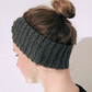 Grey Knitted Wool Handmade Hairband for Women