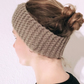 Beige Knitted Wool Handmade Hairband for Women
