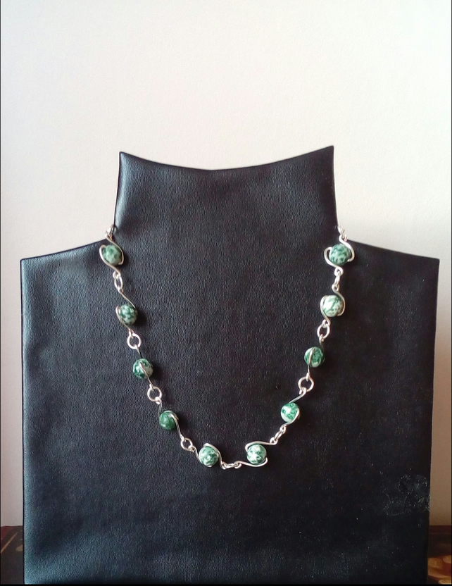 Tree agate necklace