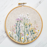 Wildflower Meadow Embroidery Art