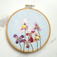 Summer Flowers Embroidery Art
