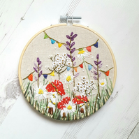 Magical Fairyland embroidery with toadstools