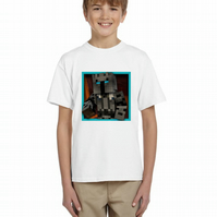 PopularMMO Pat  Childrens Kids Tshirt YouTube Fan Free Personalisation AGE 7-8
