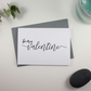 Be my Valentine Card - Grey and Black - Script Design