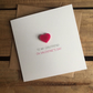 To My Girlfriend On Valentine's Day Card with Magnetic Love Heart Keepsake