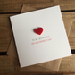 To My Boyfriend On Valentine's Day Card with Magnetic Love Heart Keepsake