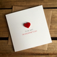 To My Wife On Valentine's Day Card with Magnetic Love Heart Keepsake