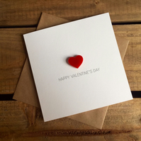 Happy Valentine's Day Card with Magnetic Love Heart Keepsake