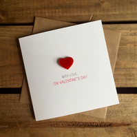 With Love On Valentines Day Card with Magnetic Love Heart Keepsake