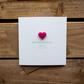 Happy Mothers Day from your Little Boy Card with Love Heart Magnet Keepsake
