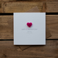 Happy 1st Mothers Day from your Little Girl Card with Love Heart Magnet Keepsake