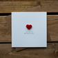To My Wife on Mothers Day Card with Red Love Heart Magnet Keepsake