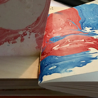 Marbled sketchbook, saddle stitched, 300 gsm paper