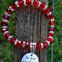 Be your own hero Positivity bracelet
