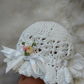 A Handmade Baby Crochet Sun  Hat in Cotton.