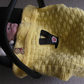 A New Hand Knitted, Basket Weave Car Seat Cover- Blanket up to 9 months.