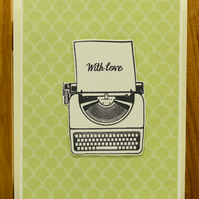 Handmade Greetings Card 'With Love'