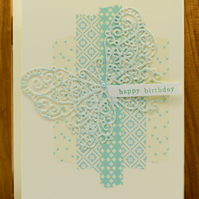 Handmade Birthday Card featuring a butterfly