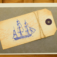 Handmade Nautical Greetings card
