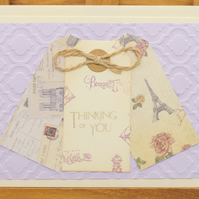 Handmade Greetings card 'Thinking of You'