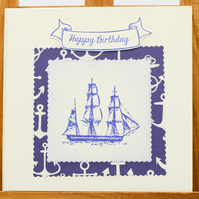 Handmade Nautical Birthday Card