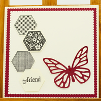 Handmade Greetings card 'My friend'