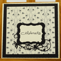 Handmade Greetings card 'Celebrate'