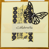 Handmade Greetings card - 'Celebrate'