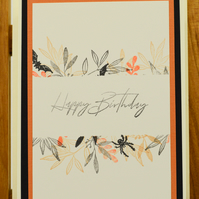 Handmade Birthday Card with Halloween theme